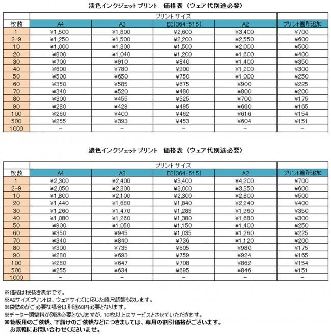 インクジェット2014価格